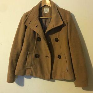 Jackets & Blazers - Tan peacoat jacket